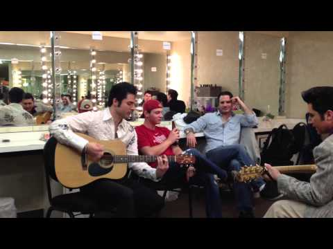Elvis Jam in the dressing room before the show at Million Dollar Quartet