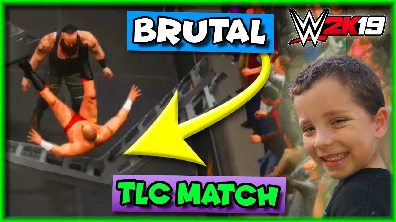 WWE 2K19 TLC Match - When MONSTERS Collide (With LADDERS)