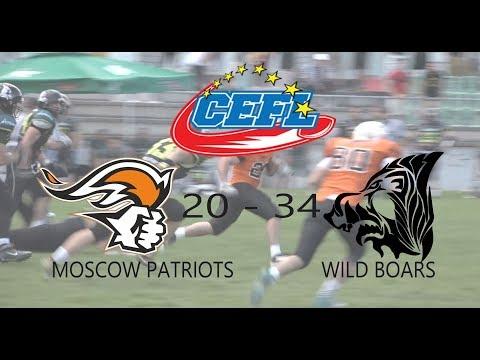 Wild Boars vs Moscow Patriots  34-20/CEFL 2018