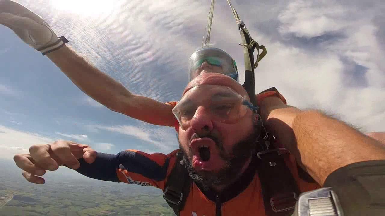 Salto de Paraquedas do Anderson na Queda Livre Paraquedismo 28 01 2017