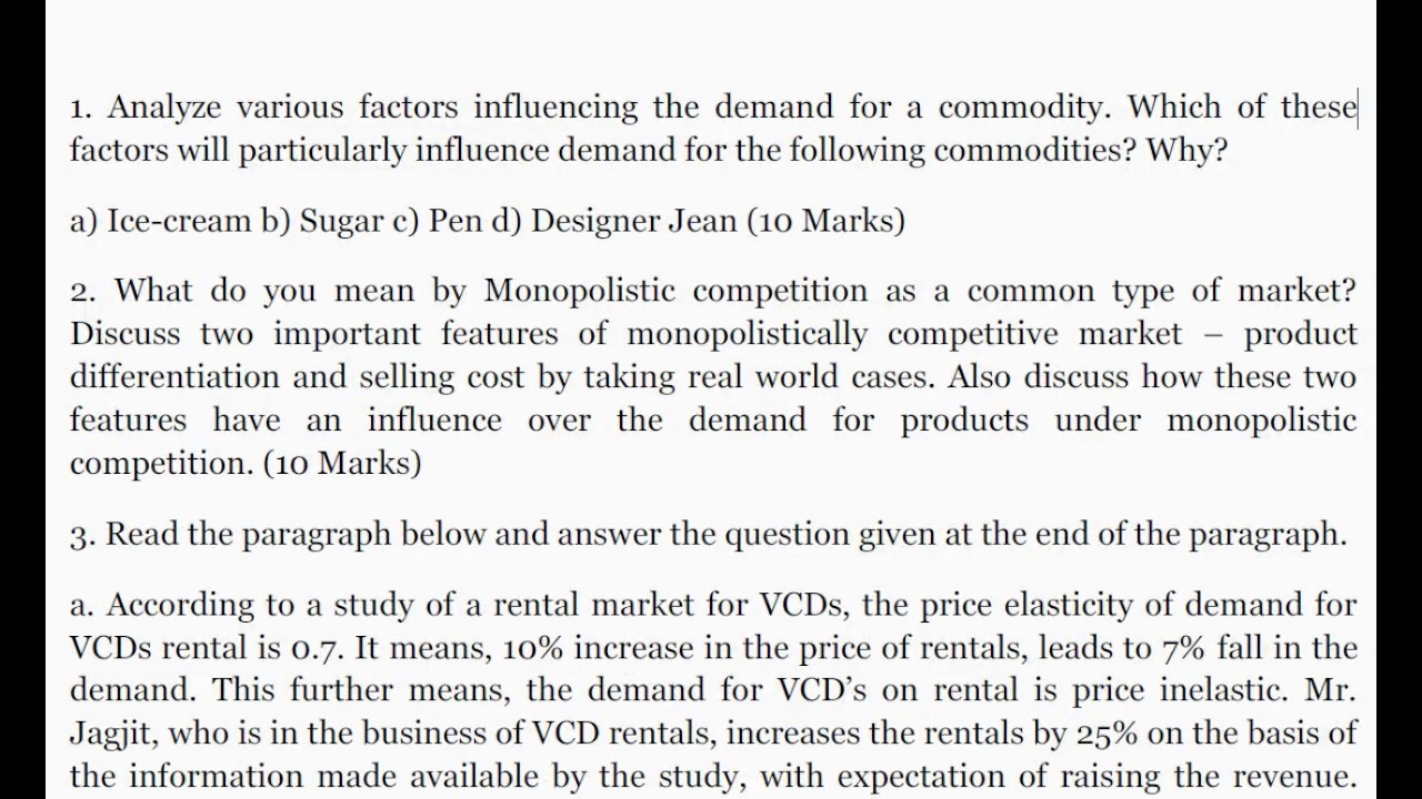 factors affecting demand of a commodity pdf