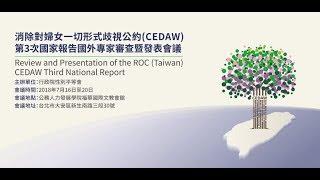20180720消除對婦女一切形式歧視公約(CEDAW)第3次國家報告國外專家審查暨發表會議