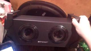 Emerson Bluetooth speaker unboxing