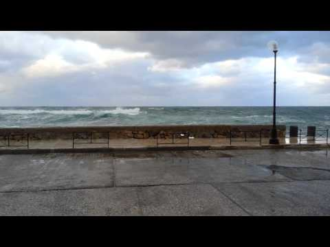 Chania harbor during a storm #1(3)