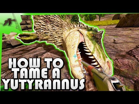 How To Tame A Yutyrannus Solo(Easy Taming Pen)- Ark Survival Evolved Xbox One- Kamz25
