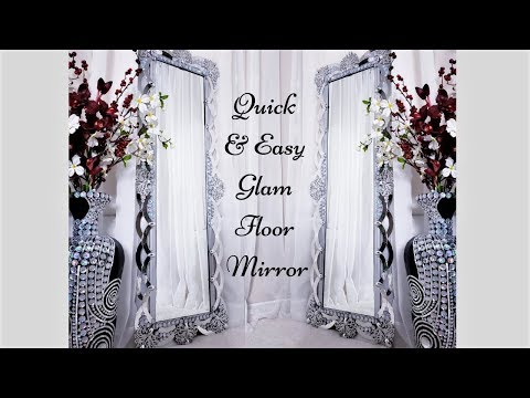 Diy High End Floor Mirror with Dollar Tree Items| Home Decor Ideas 2019