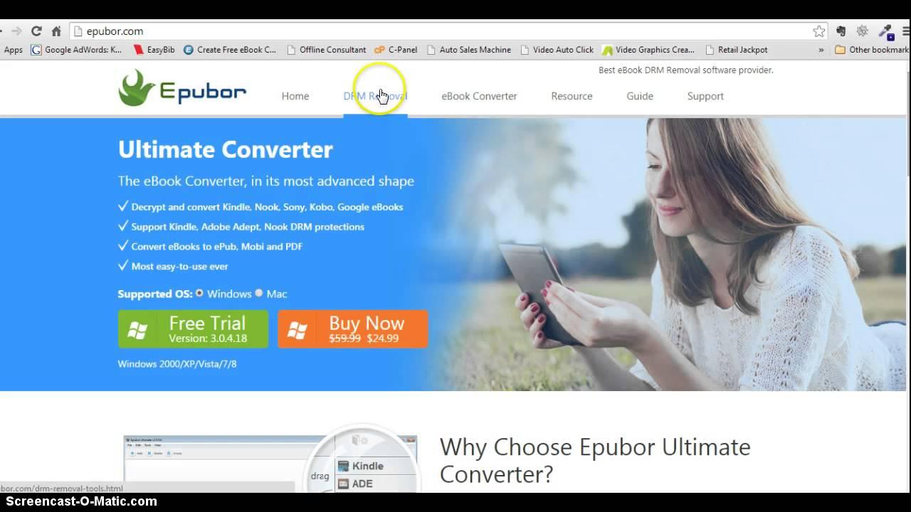 Epubor Best Kindle to PDF Converter Software