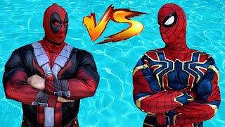 Superheroes Dancing in Pool