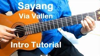 Belajar Gitar Via Vallen Sayang (Intro) - Belajar Gitar Fingerstyle Untuk Pemula