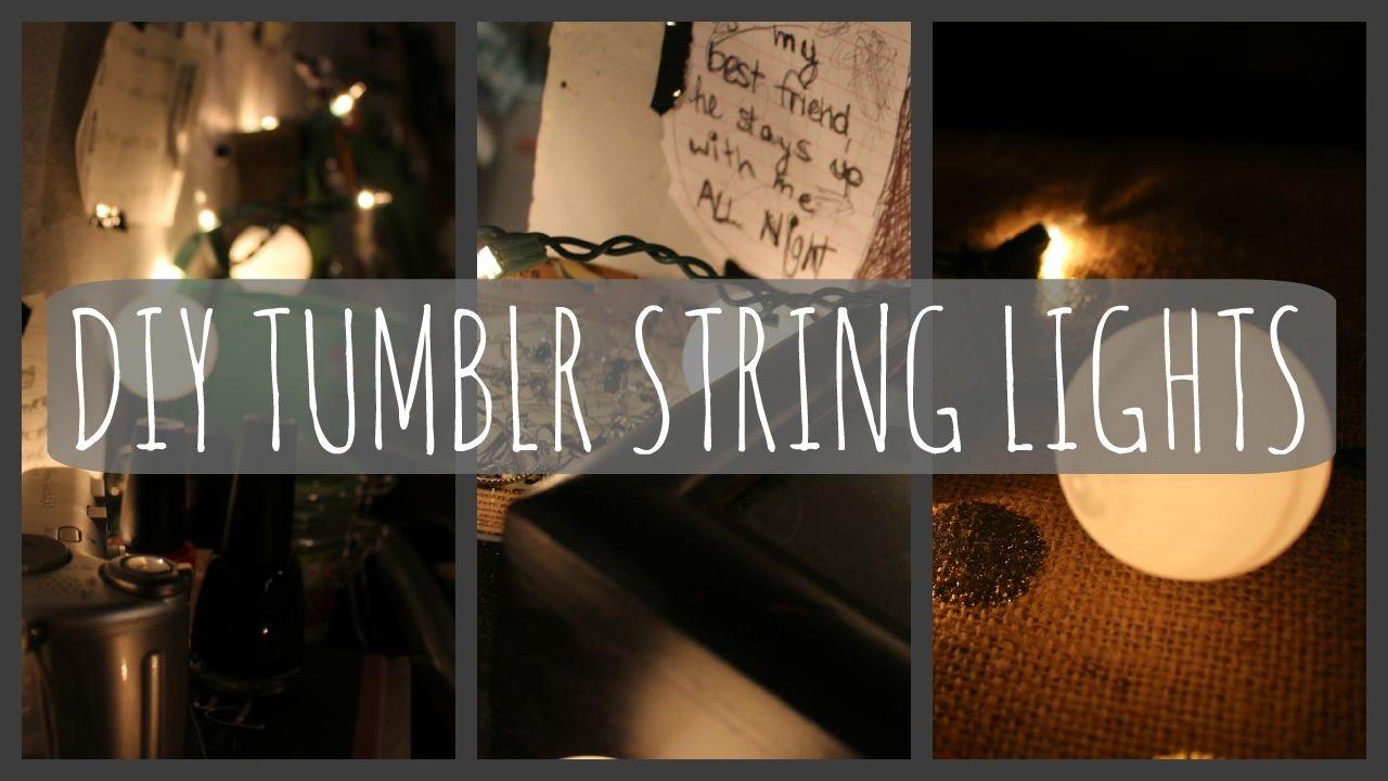 DIY Tumblr String Lights Three Sparrows - YouTube