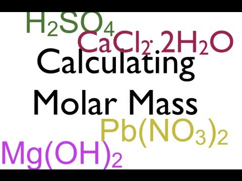 Molar Mass Calculations YouTube