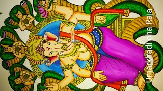 Ganesh chaturthi special drawing and painting of Umarkhadi cha Raja 2018