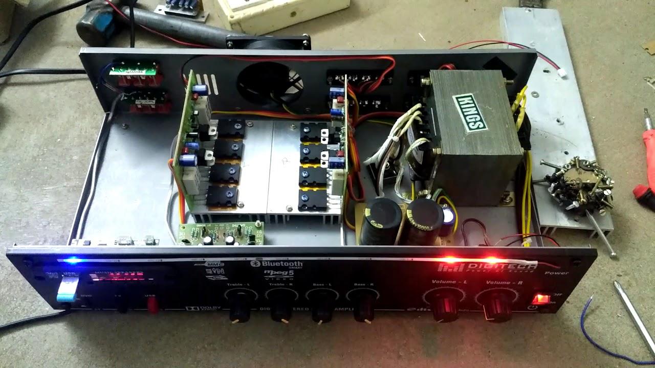 8 amp 24-0-24, SAKTHI MOSFET AMPLIFIER, 12inch 2 speaker support