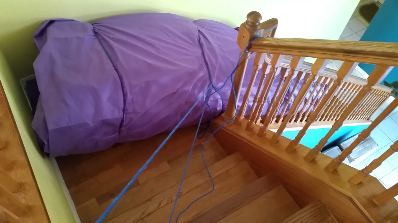 How to Move a King Size Purple Mattress Upstairs By Yourself