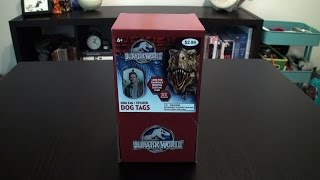Jurassic World Dog Tags Box Break