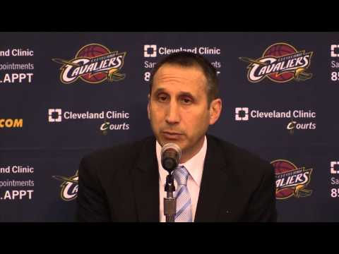 David Blatt talks at Cleveland Cavaliers Media Day