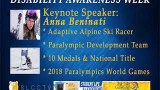 2015 Disability Awareness Week Keynote Speaker Anna Beninati