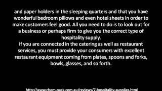 Hospitality Supply Companies