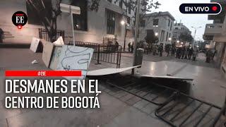 Paro nacional: Disturbios entre manifestantes y Esmad en el centro histórico de Bogotá
