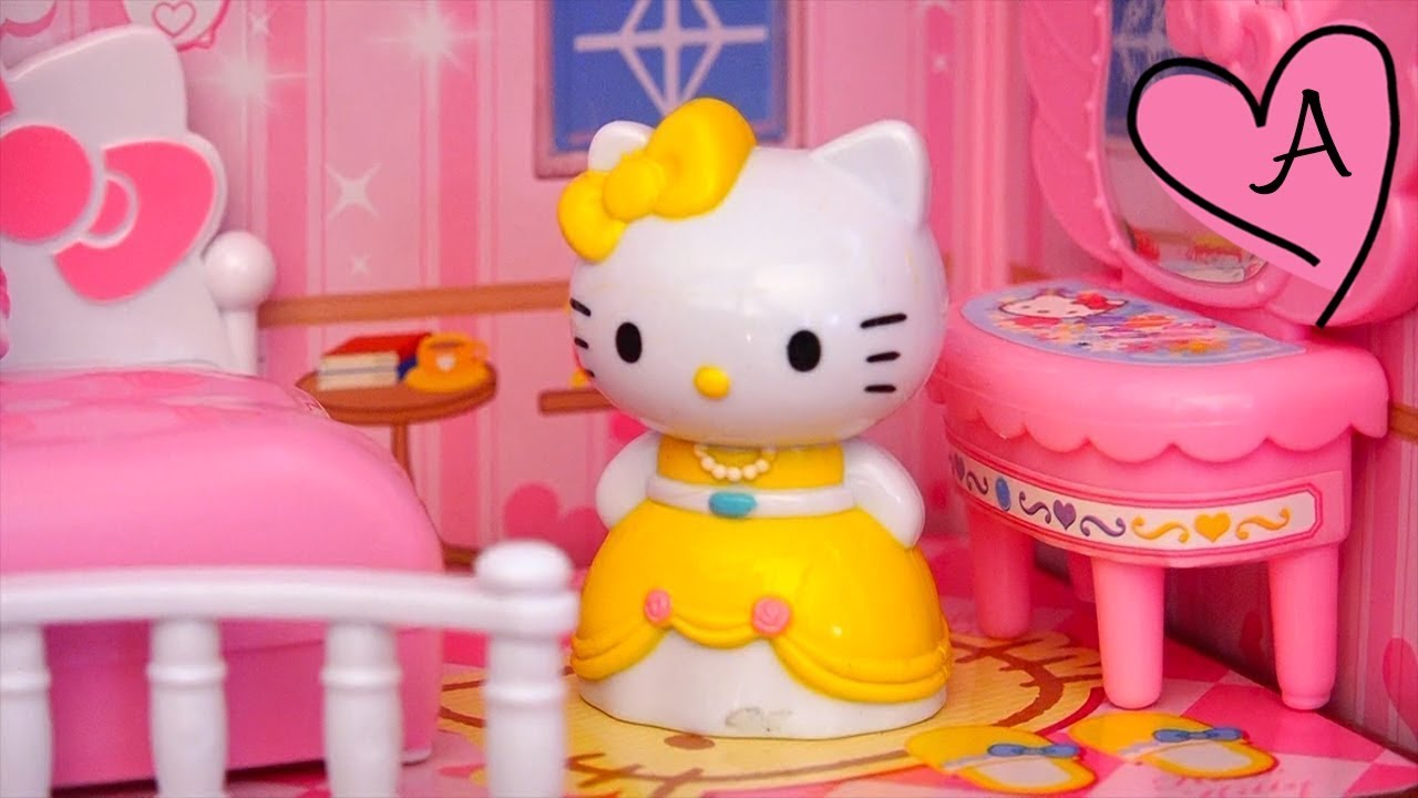 Castillo de princesa Hello Kitty con luces | Muñecas y juguetes con ...