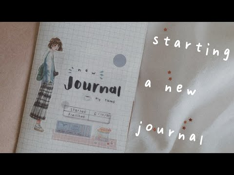 🌼 journal with me | starting a new journal