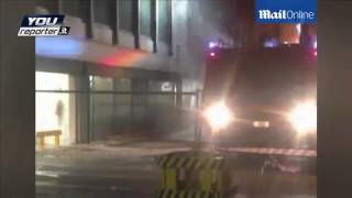 Chaos at Rome airport after two-storey-high flames engulfed terminal leaving thousands of passenger
