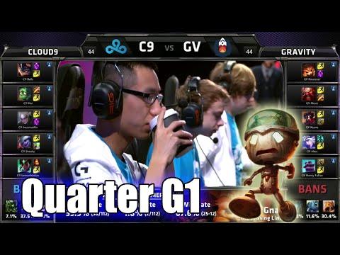 Cloud 9 vs Gravity   Game 1 Quarter Finals S5 NA LCS Regional Qualifier for Worlds   C9 vs GV G1 QF