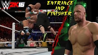 "WWE 2K16: Triple H ""Entrance and Finisher"" - (Cena it stinks)"