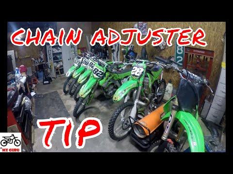 Kawasaki Tech Tip - CHAIN ADJUSTER BOLT MAINTENANCE - MX Motocross