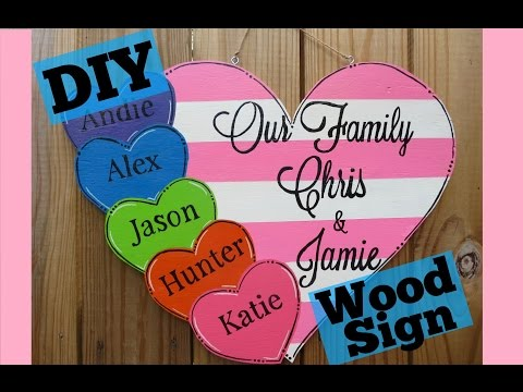 DIY How to make a Personalized Wooden Sign