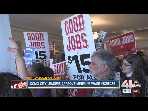 KC City Council passes minimum wage ordinance 12-1, will increase to $13 per hour by 2020