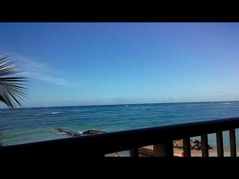 Our room at The Outrigger Reef Waikiki, Honolulu🎋🌞🍍our balcony