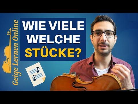 [Geige Spielen lernen #15] Wie viele Geigenstücke sollte ich gleichzeitig üben?