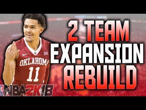 2 TEAM EXPANSION REBUILD CHALLENGE!! NBA 2K18