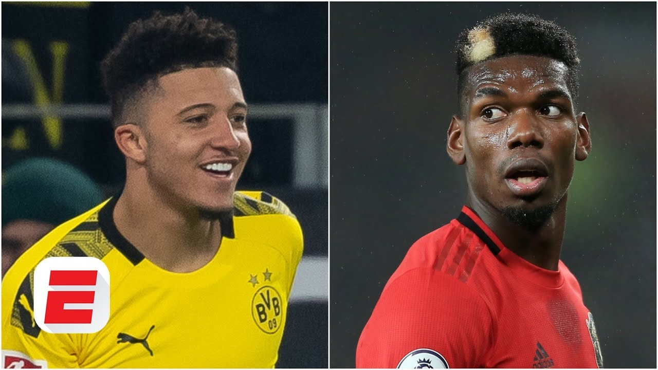 Man United 'keeping No. 7' open for Jadon Sancho ... but what happens with Paul Pogba? | ESPN FC thumbnail