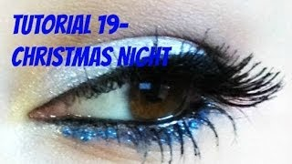 ♥ Christmas Night MakeUp Icy Eyes & Pink Lips ♥