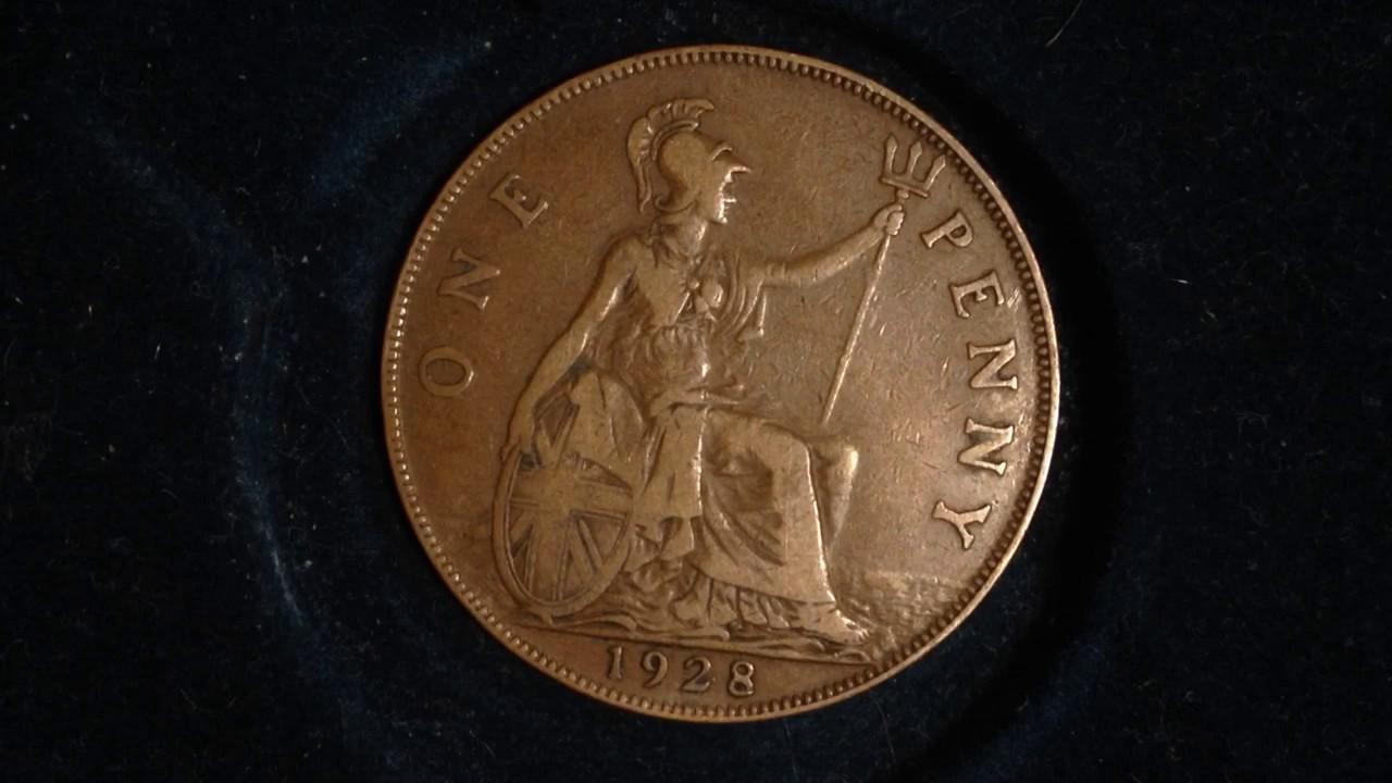 1928- One Penny- United Kingdom (Mintage 50 million)