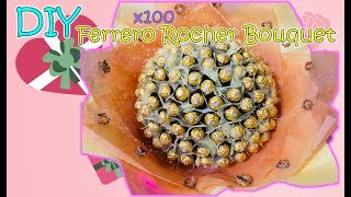 DIY 100x Ferrero Rocher Bouquet - 100顆金莎花束製作過程 - Cover桑