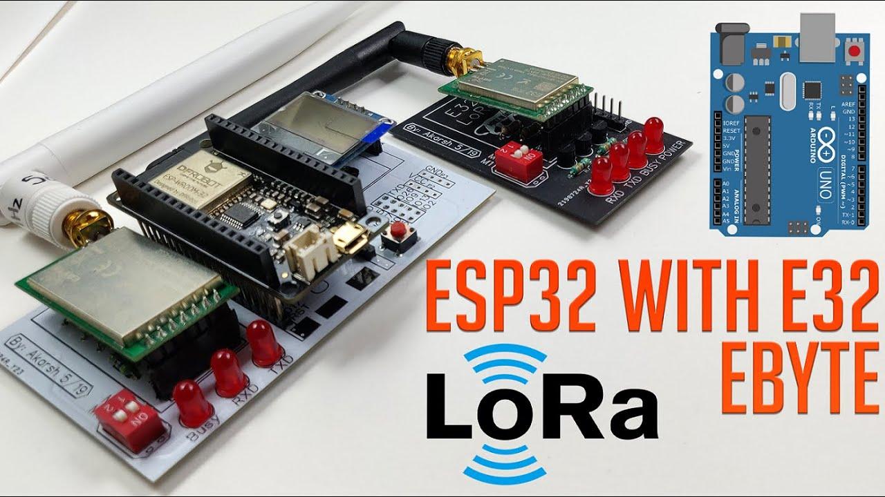 ESP32 with E32-433T LoRa Module Tutorial | LoRa Arduino