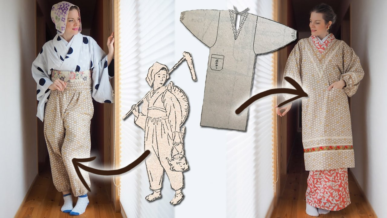 I made traditional Japanese household wear.