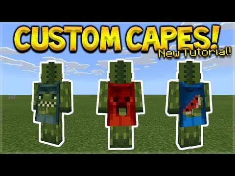 HOW TO USE CUSTOM CAPES IN MCPE 1.2 - Minecraft Pocket Edition Custom Capes on YOUR Skin Tutorial