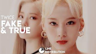 TWICE (트와이스)  – Fake & True | Line Distribution