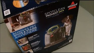 Bissell Spotclean Proheat Pet Carpet & Upholstery Cleaner Review