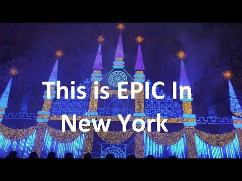 Rockefeller Tree New York Spactular Musical Light Show Christmas and Happy New Year