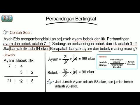 Cara Mudah Perbandingan Bertingkat Perbandingan 3 Variabel Youtube