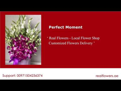 Perfect Moment Purple Orchids Gladiola Flowers in Dubai