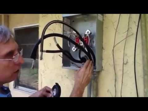 100 Amp Sub Panel Wired From 200 Amp Panel Diagram Replacing 200 Amp Main Meter Center Youtube