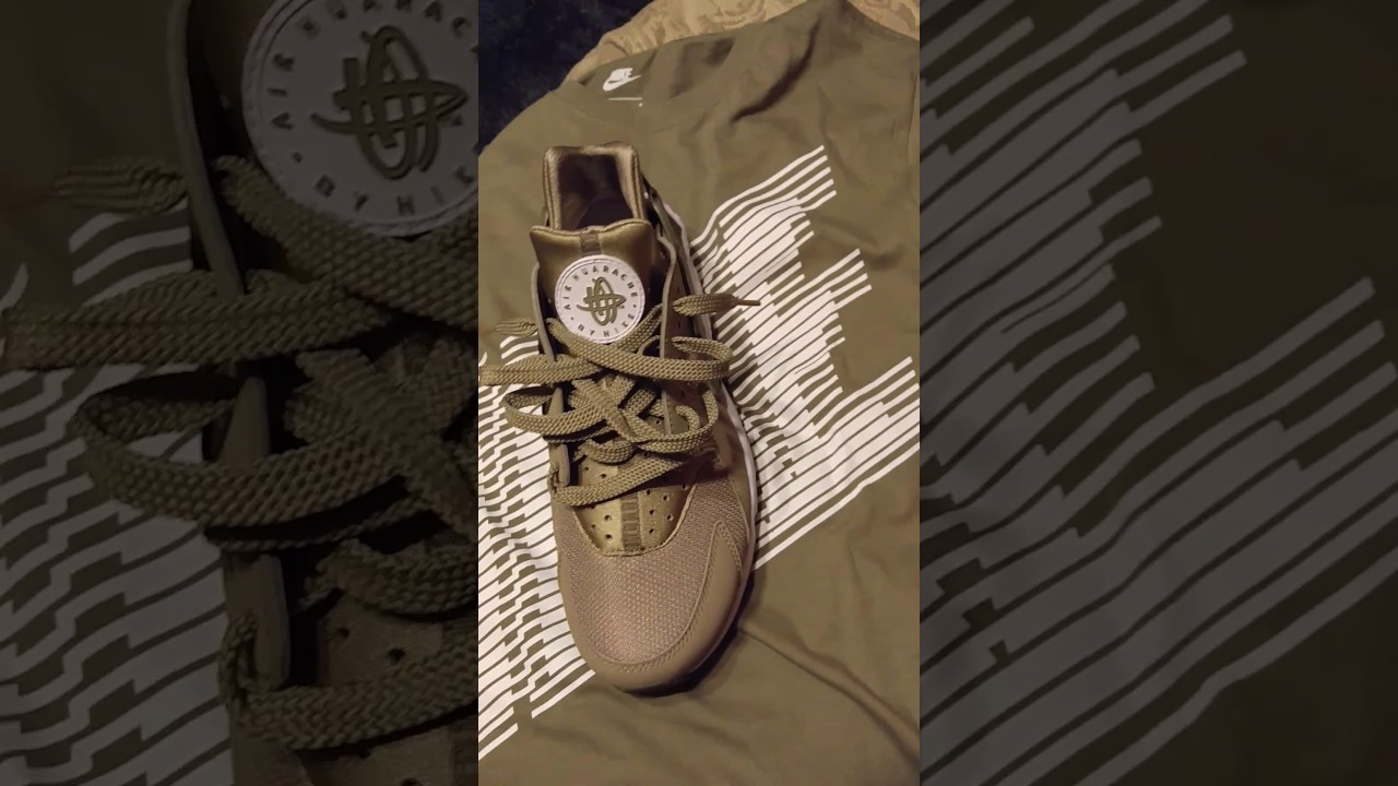 3a285d27334293 Nike Air Huarache Khaki Olive Colorway - YouTube
