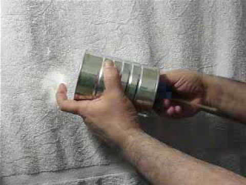 Tin can cuica from stan the cuica man youtube for How to make a tin man out of cans