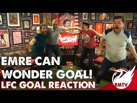 Emre Can Scores an OVERHEAD KICK!   LIVERPOOL FANS Goal Reaction